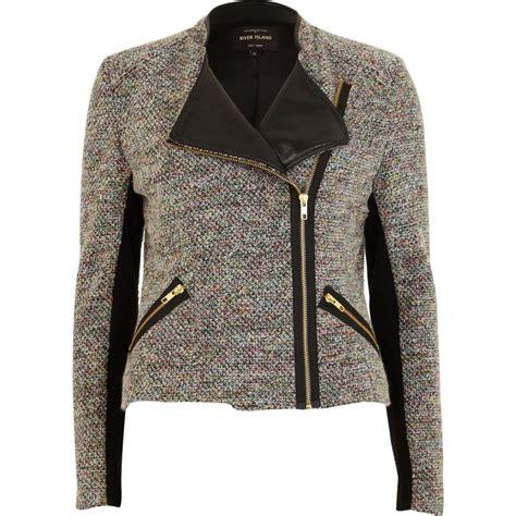 biker jacket sale grey tweed biker jacket coats jackets sale