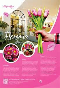 flowers shop flyer psd template facebook cover by