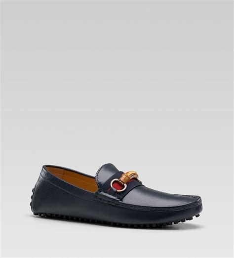 Sepatu Slip On Gucci 7219 gucci driver moccasin with bamboo horsebit and web detail menswear shoes