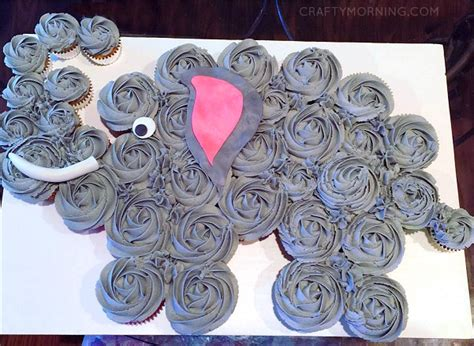 How to Make an Elephant Cupcake Cake   Crafty Morning