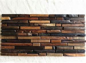 rustic kitchen backsplash tile wood mosaic tile rustic wood wall tiles nwmt009