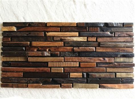 rustic backsplash tile natural wood mosaic tile rustic wood wall tiles nwmt009