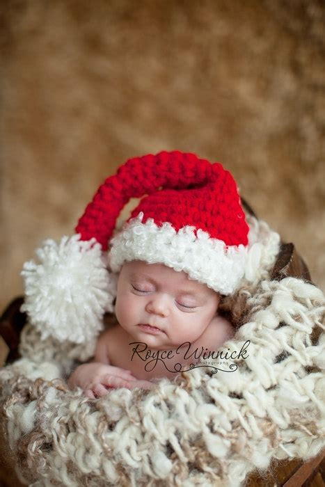 santa s hat baby boy or baby girl christmas photography