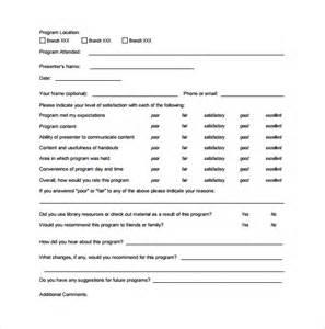 sample program evaluation form 11 free samples