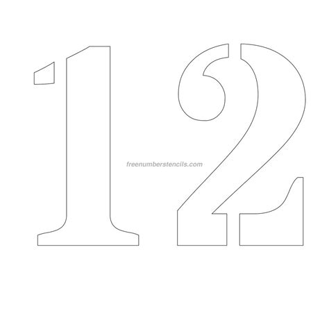 printable number stencils 24 inch free 12 inch 12 number stencil freenumberstencils com