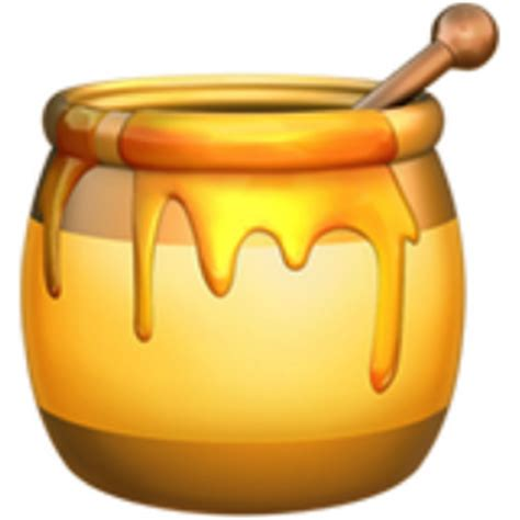Honey Hunny The Pooh Iphone All Hp honey pot emoji u 1f36f
