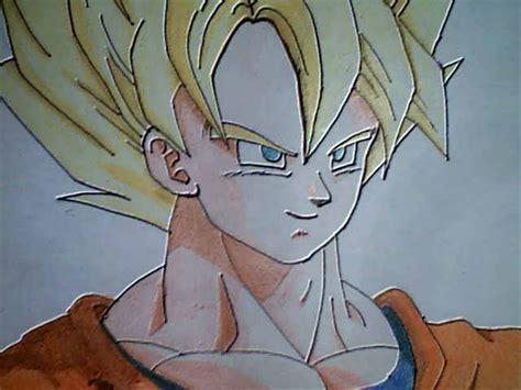 imagenes de goku para dibujar a lapiz completos dibujar a goku ssj poster