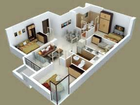 3 room apartment insight of 3 bedroom 3d floor plans in your house or