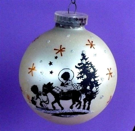 black gold christmas ornaments vintage glass black nativity glitter gold austria ornament ebay