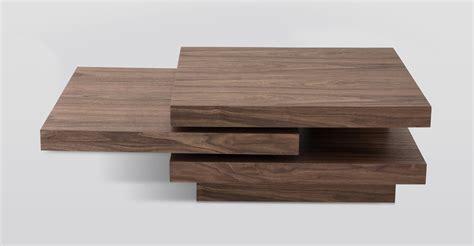 Table Coffee Modern Modrest Modern Walnut Coffee Table
