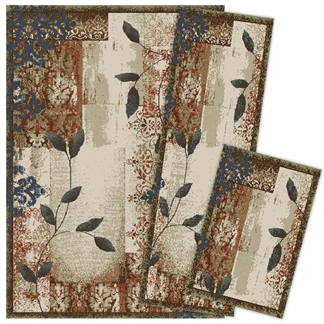 weavers of america area rugs shop weavers of america 3 set indoor area rugs common 5 x 8 actual 5