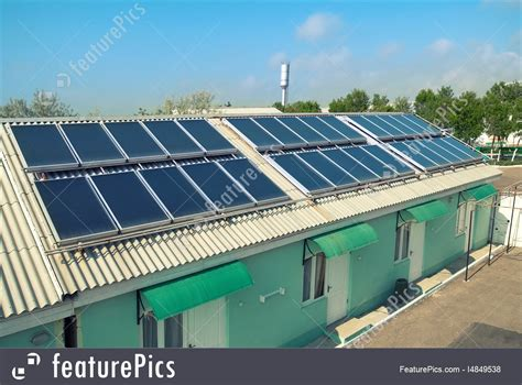 rooftop solar system solar system on the roof picture