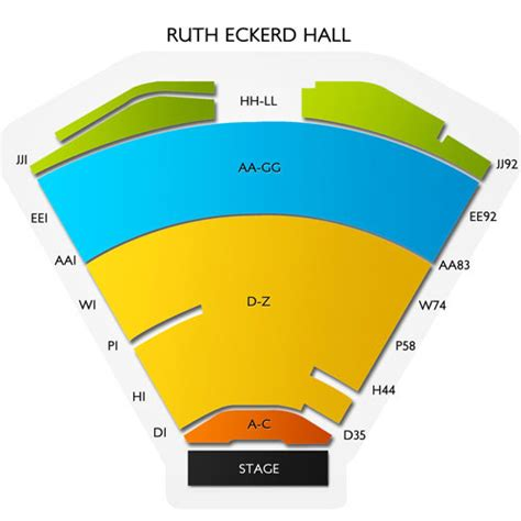 National Theatre Floor Plan by Ruth Eckerd Hall Seating Chart Vivid Seats