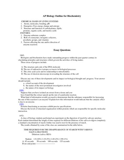 Chapter 43 Ap Biology Outline by Ap Biology Outline For Biochemistry 6 Ap Biology Course Outline Biological Science Picture