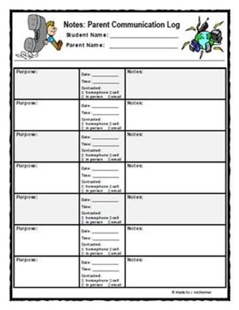 parent meeting report template parent communication log and documentation sheet