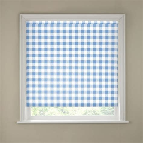 Kitchen Blinds Argos Buy 6ft Blue Gingham Kitchen Roller Blind At Argos Co Uk