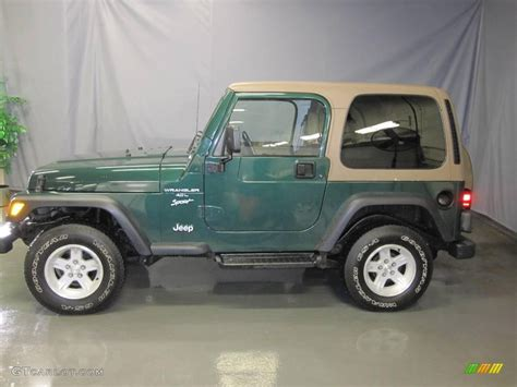 2000 forest green pearl jeep wrangler sport 4x4 25062927 photo 2 gtcarlot car color