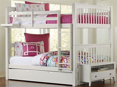 white bunk bed with trundle pulse white bunk bed with trundle 33060nt