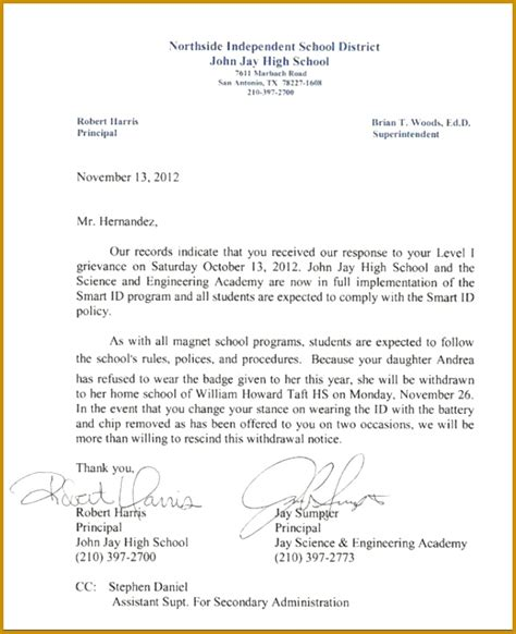 Sle Appeal Letter High School Admission 4 sle appeal letter for high school admission