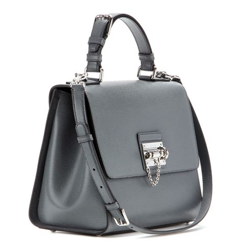 Dolce And Gabbana White Open Leather Bag by Lyst Dolce Gabbana Leather Shoulder Bag In Gray