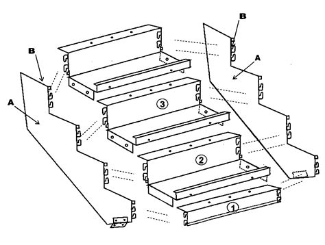 stair banister parts patent us20090293385 boltless metal stair step system for indoor outdoor staircase