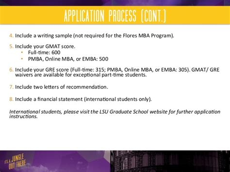 How Many Credits For Mba At Lsu by How To Start Your Lsu Flores Mba Journey
