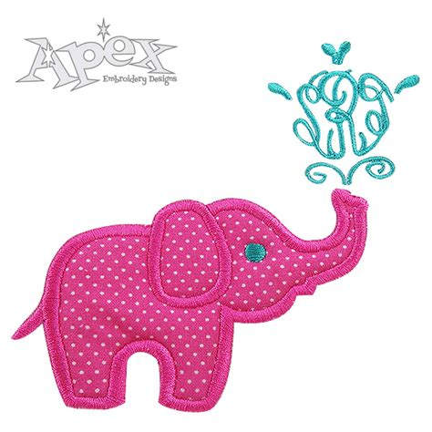 embroidery applique design elephant applique frame embroidery design