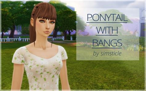 sims 4 ponytails with bangs sims 4 hairs simssticle ponytail with bangs