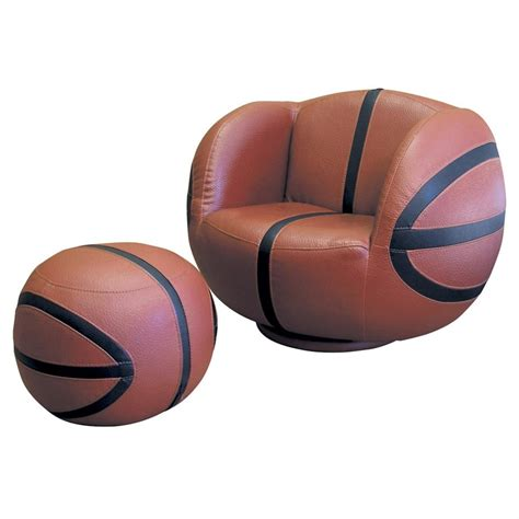 basketball chair and ottoman polaris 174 basketball chair and ottoman set 163717 kid s
