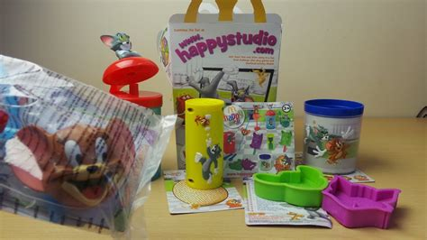 mcdonalds happy meal toys tom  jerry blender  straw