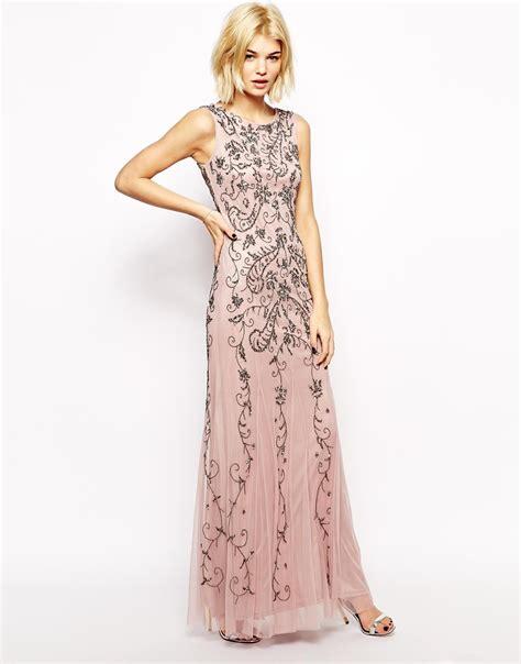 Manggo Dress lyst mango embellished maxi dress in