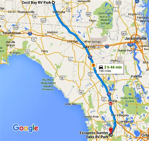 bushnell florida map sts hop 11 cecil ga to bushnell fl 171 our wander years