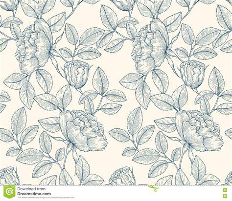 pattern line flower hand drawn rose garden stock vector image 76978812
