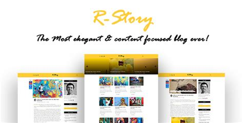 story website themes r story creative personal blog html template nulled