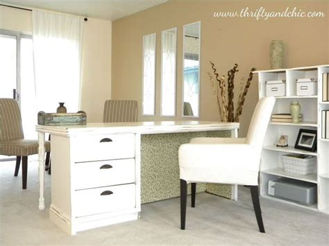 repurposed dresser into a desk hometalk