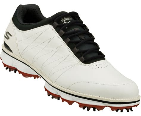 skechers go golf pro golf shoes white navy 53529 mens