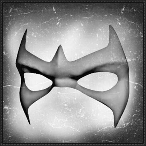 nightwing mask template dc comics size nightwing mask ver 2 free papercraft