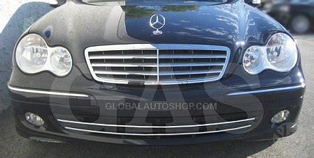 Mercedes C Class W203 Cold Air Intake, Chrome Accessories