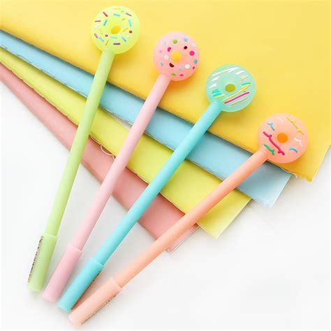 Korean Stationery Kawai Color Pen Pulpen Gel aliexpress buy korean stationery fashion color gel pen donuts kawaii pens for