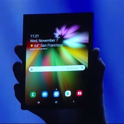 samsung finally unveils its foldable smartphone that closes like a book iphone in canada