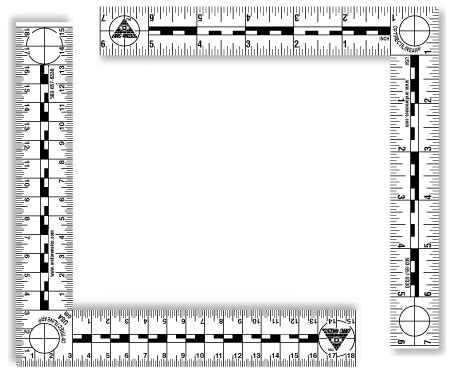 printable forensic ruler footprint and tire track frame of reference