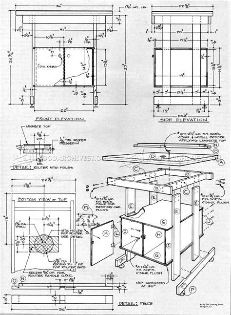 simple router table plans woodarchivist