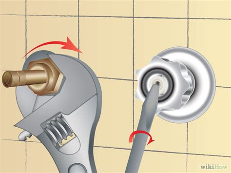 Replace Leaky Shower Faucet by How To Fix A Leaky Shower Faucet 11 Steps With Pictures