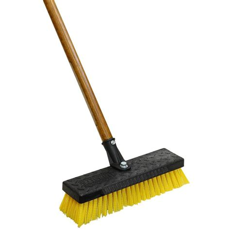 Home Floor Scrubber by Quickie Professional 12 In Wide Heavy Duty Deck Brush 266