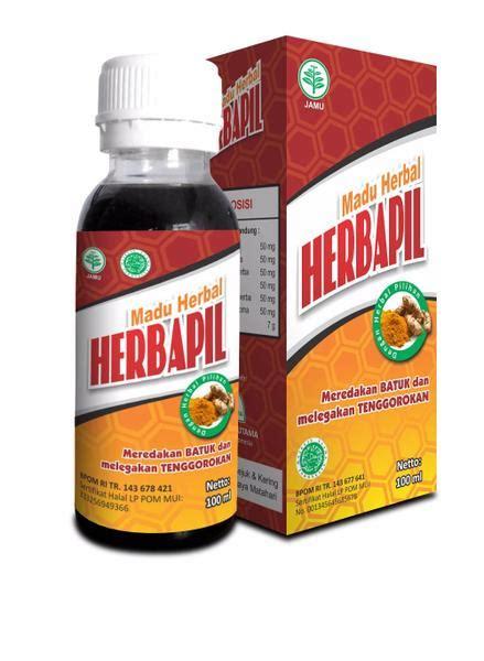 Madu Herbapil Madu Flu Dan Batuk 100ml hiu madu herbal flu batuk pilek herbapil alzafa store