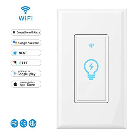 light switches compatible with google home smart switch lyasi wi fi light switch in wall wireless