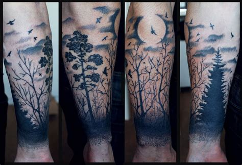 forest sleeve tattoos