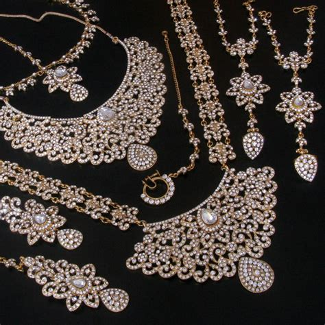 big for jewelry wedding indian bridal simulated big gold