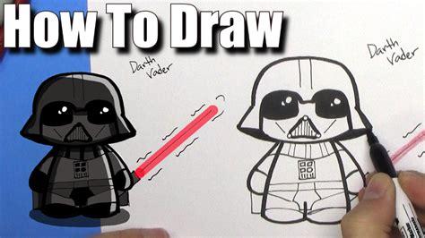 imagenes de darth vader kawaii how to draw cute darth vader easy chibi step by step