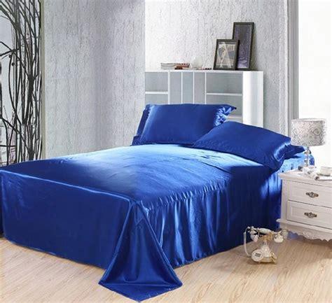 royal blue duvet covers bedding set silk satin california king size queen full twin double